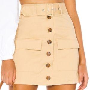 Lovers + Friends Eden Skirt Khaki Mini Cargo